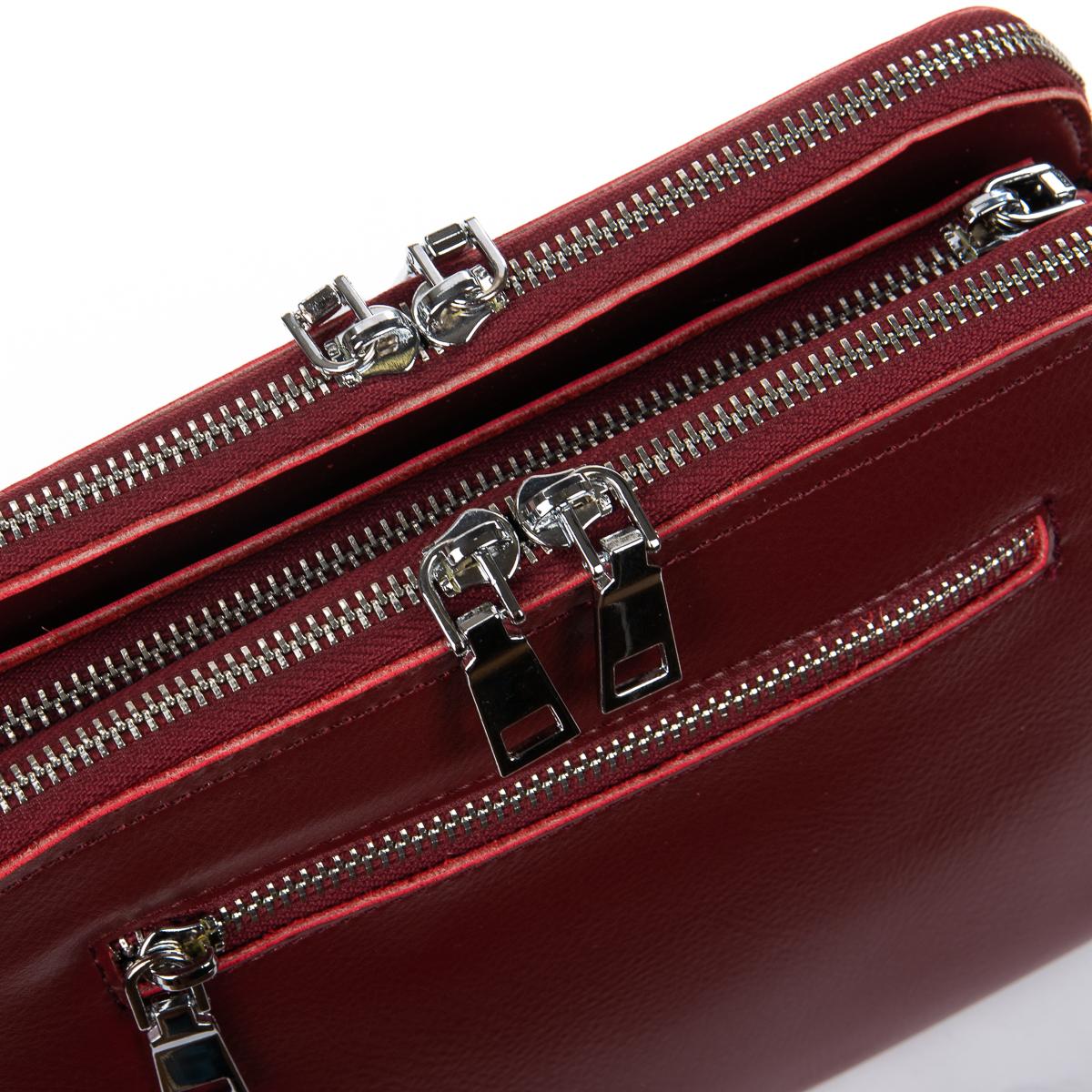 Сумка Женская Клатч кожа ALEX RAI 06-1 8725 wine-red
