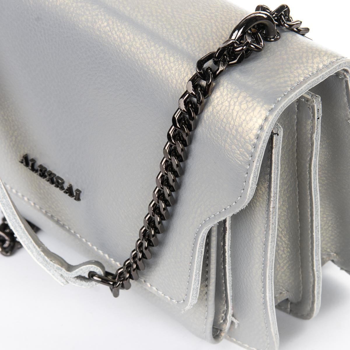 Сумка Женская Клатч кожа ALEX RAI 06-1 8543 pearl-lgrey