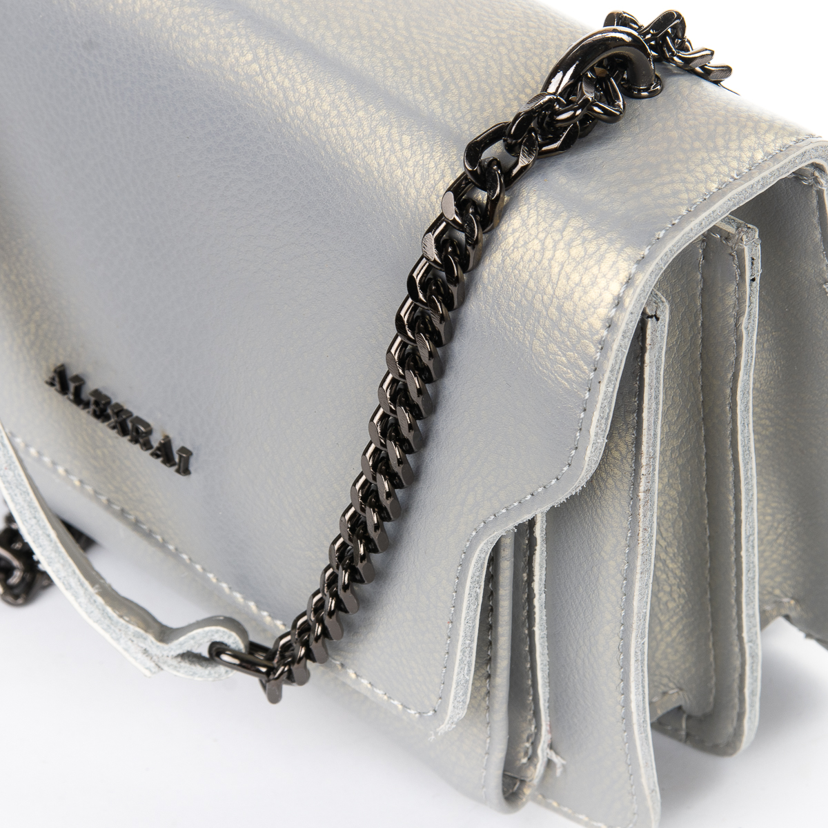 Сумка Женская Клатч кожа ALEX RAI 06-1 8543 pearl-lgrey - фото 3