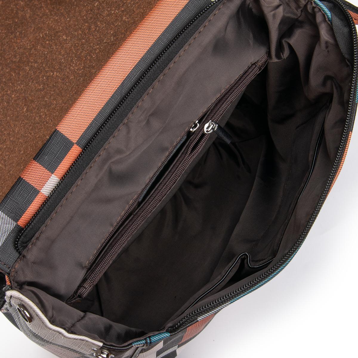 Сумка Женская Рюкзак кожа ALEX RAI 06-1 8504-8P powder-grid