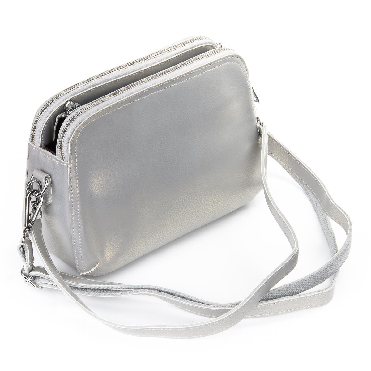 Сумка Женская Клатч кожа ALEX RAI 06-1 8725 bead ight-grey - фото 5