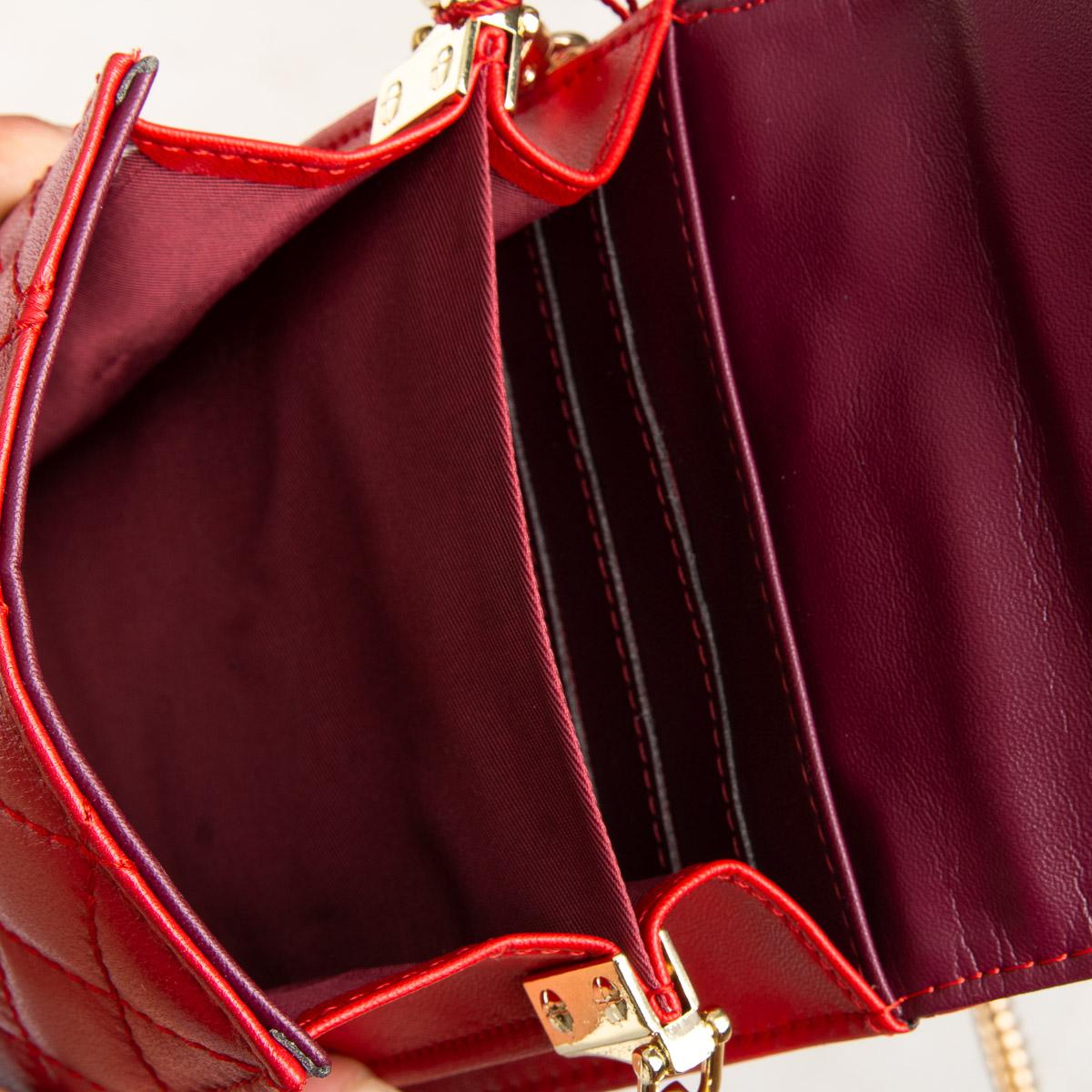 Сумка Женская Клатч кожа ALEX RAI 03-1 1038 red - фото 5