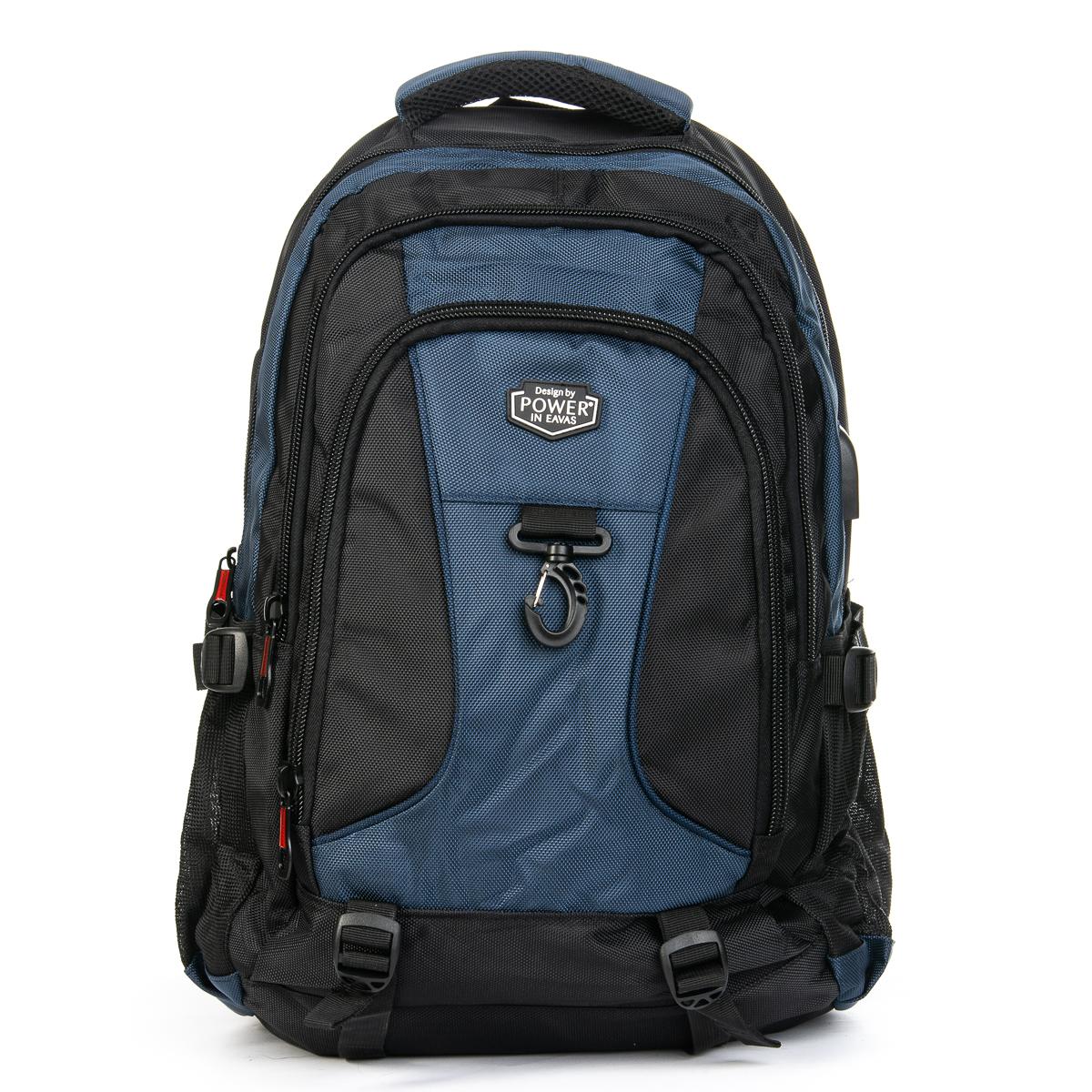 Рюкзак Городской нейлон Power In Eavas 8211 black-blue
