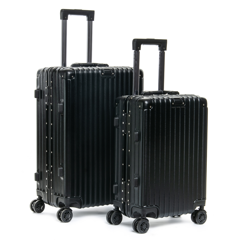 Дорожная Чемодан 2/1 ABS-пластик 06 black замок