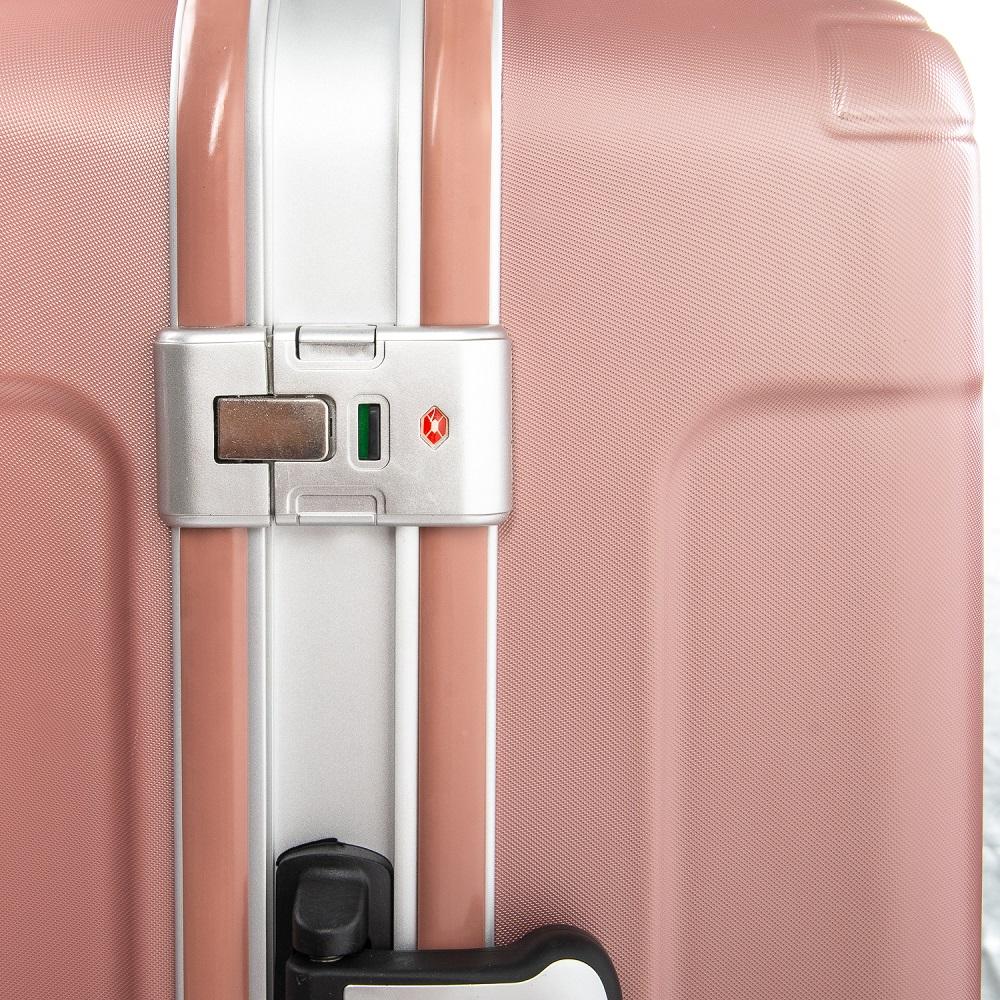 Дорожная Чемодан 2/1 ABS-пластик 04 pink замок