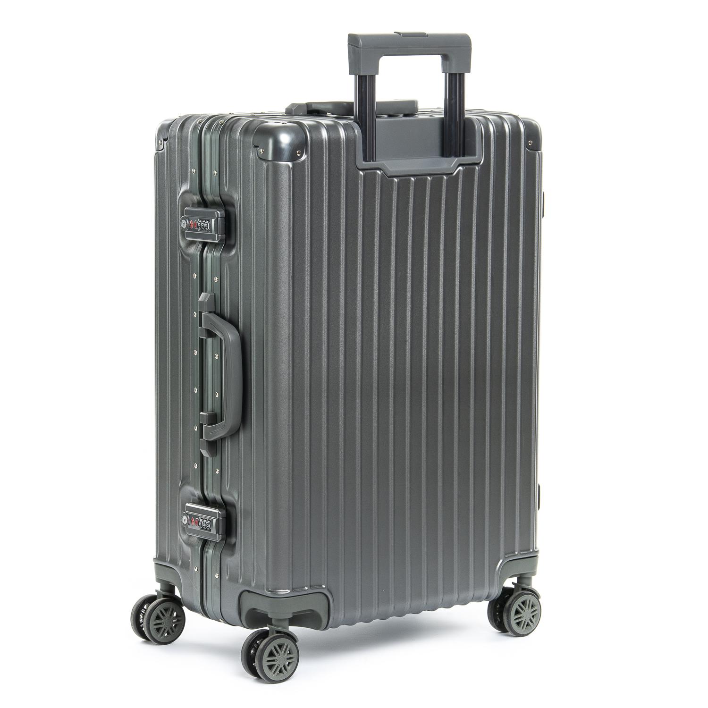 Дорожная Чемодан 2/1 ABS-пластик 06 dark-grey замок