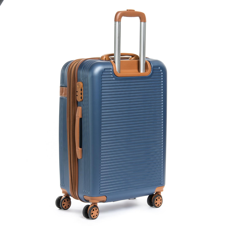 Дорожная Чемодан 2/1 ABS-пластик 8387 blue змейка - фото 3