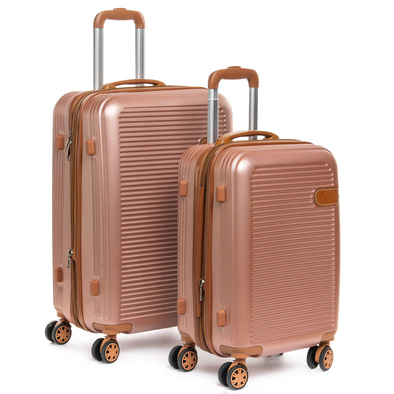 Дорожная Чемодан 2/1 ABS-пластик 8387 pink змейка