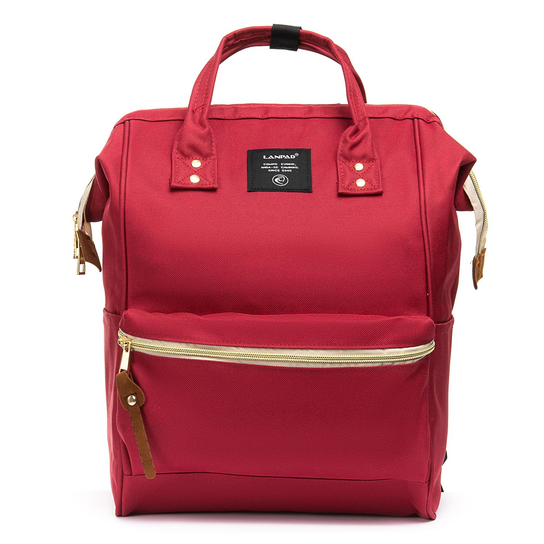 Сумка Женская Рюкзак нейлон Lanpad 5606 red