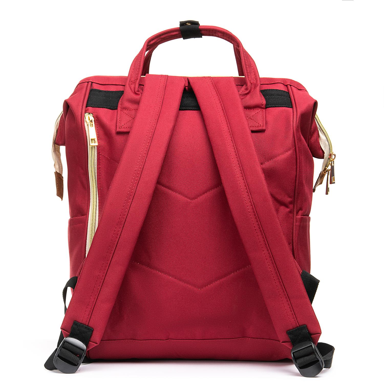 Сумка Женская Рюкзак нейлон Lanpad 5606 red - фото 4