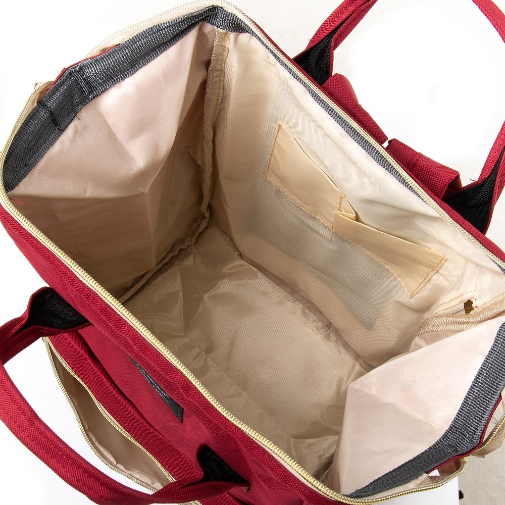 Сумка Женская Рюкзак нейлон Lanpad 5606 red - фото 5