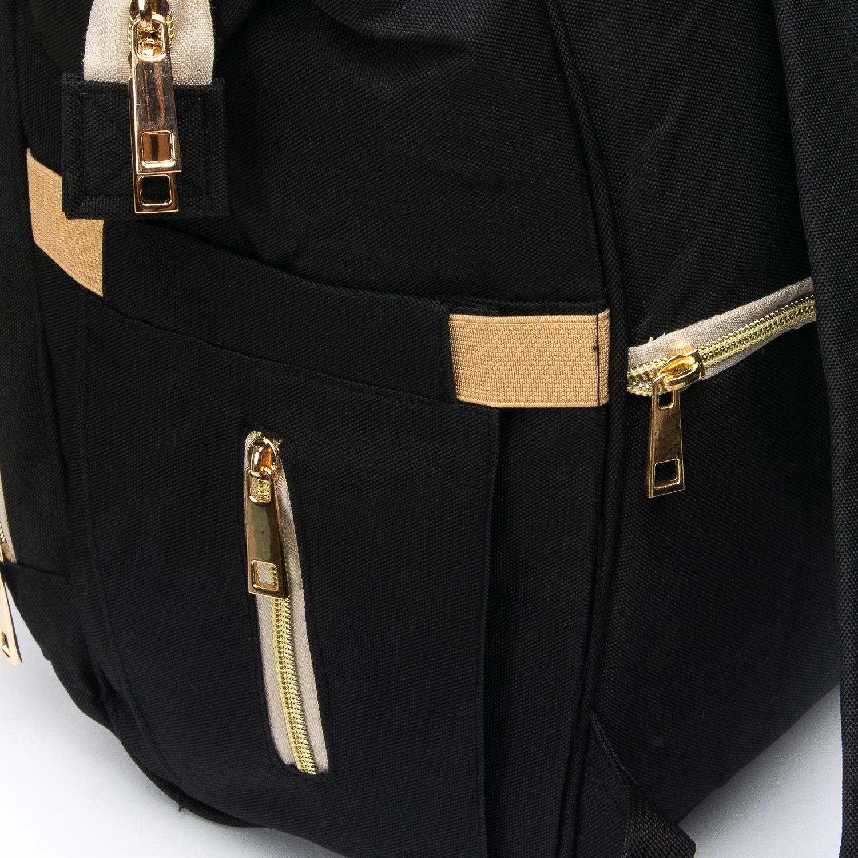 Сумка Женская Рюкзак нейлон Lanpad 5605 black - фото 3