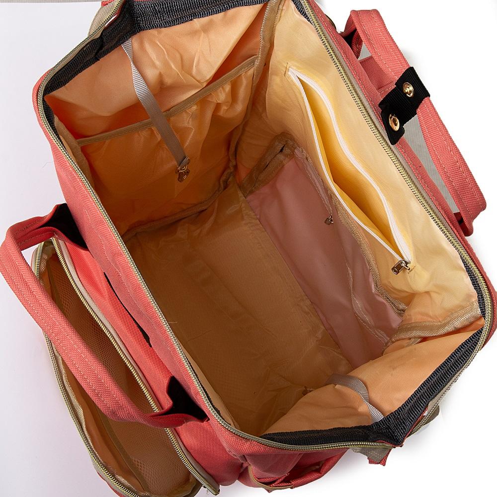 Сумка Женская Рюкзак нейлон Lanpad 5605 pink - фото 5