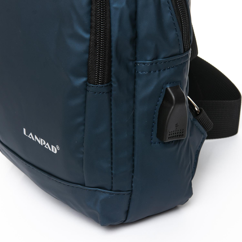 Рюкзак Городской одна лямка нейлон Lanpad 8329 blue