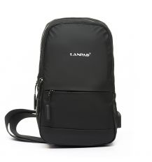 Рюкзак Городской одна лямка нейлон Lanpad 6282 black