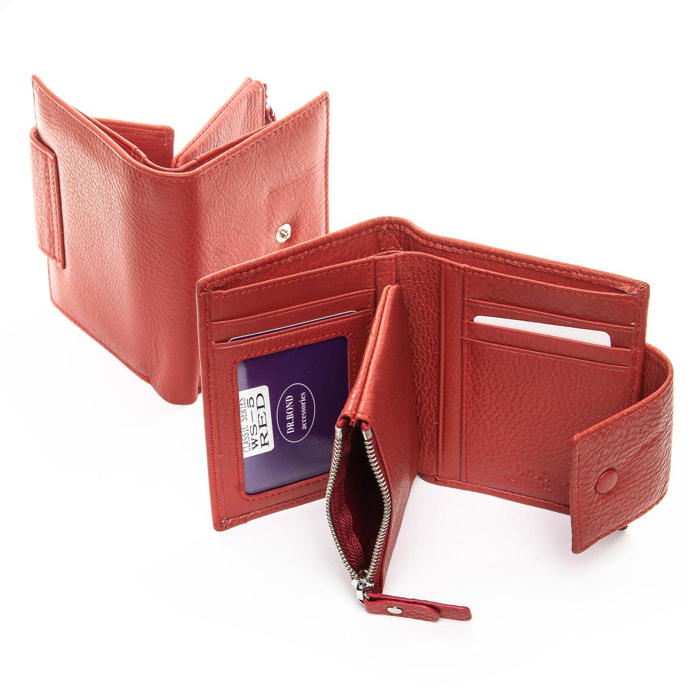 Кошелек Classic кожа DR. BOND WS-5 red