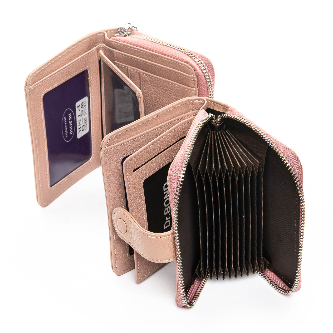 Кошелек Classic кожа DR. BOND WS-9 pink