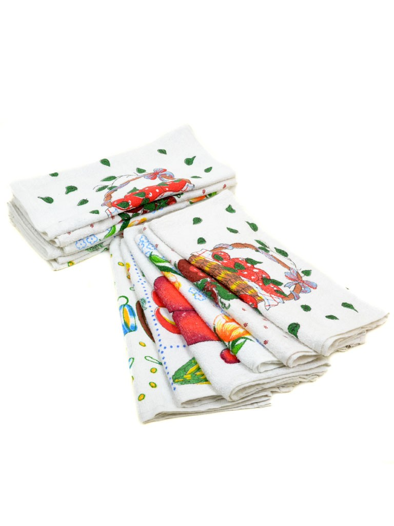 Полотенце Кухонное 44-1 white 12шт