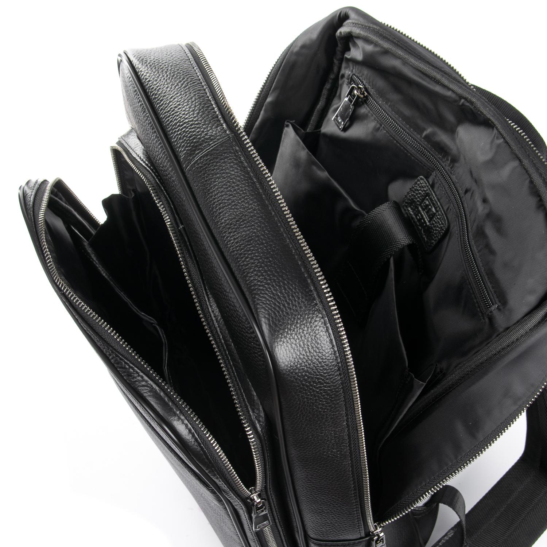 Рюкзак Городской кожаный BRETTON BP 8003-78 black - фото 5
