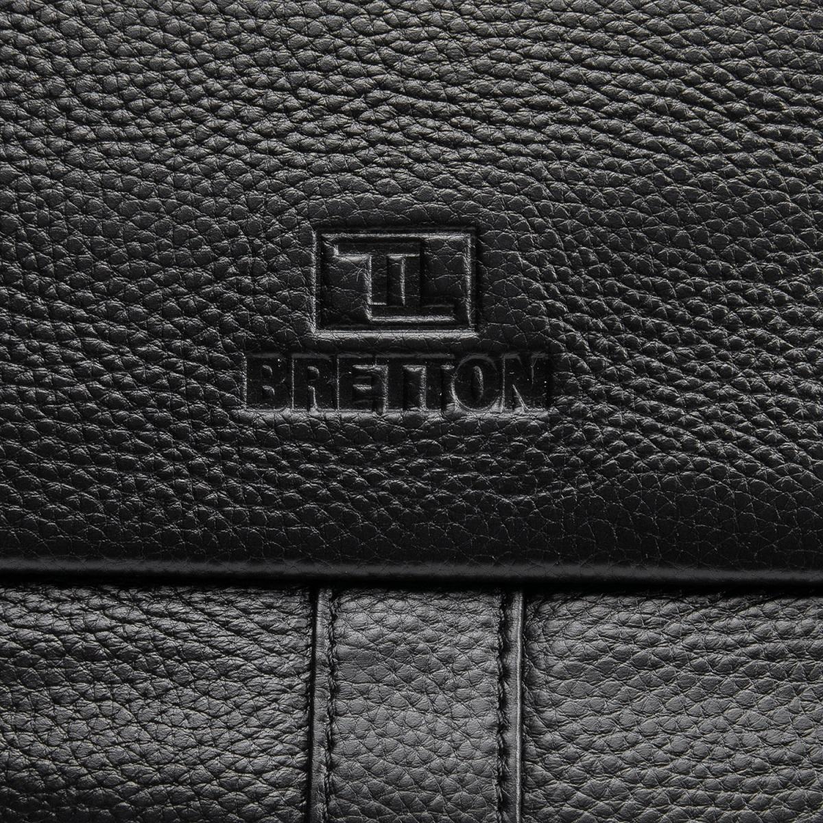 Сумка Мужская Планшет кожаный BRETTON BP 3387-4 black - фото 5