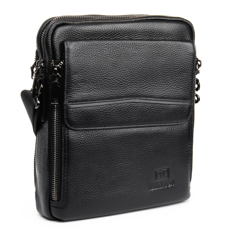 Сумка Мужская Планшет кожаный BRETTON BP 5455-4 black