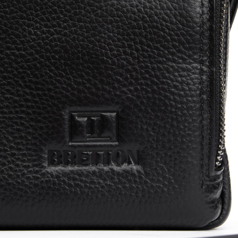 Сумка Мужская Планшет кожаный BRETTON BP 5455-4 black - фото 3