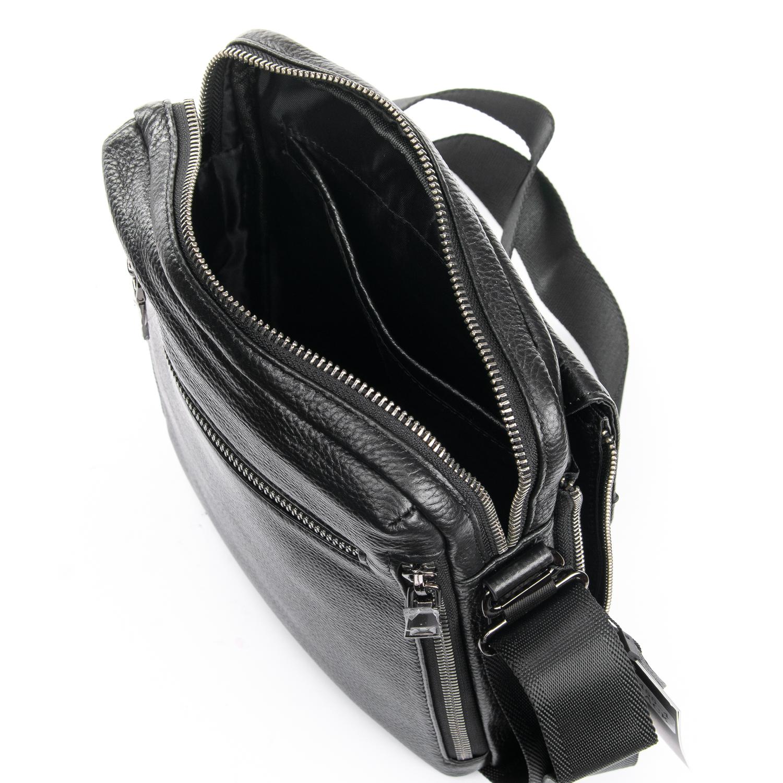 Сумка Мужская Планшет кожаный BRETTON BP 5455-4 black - фото 5