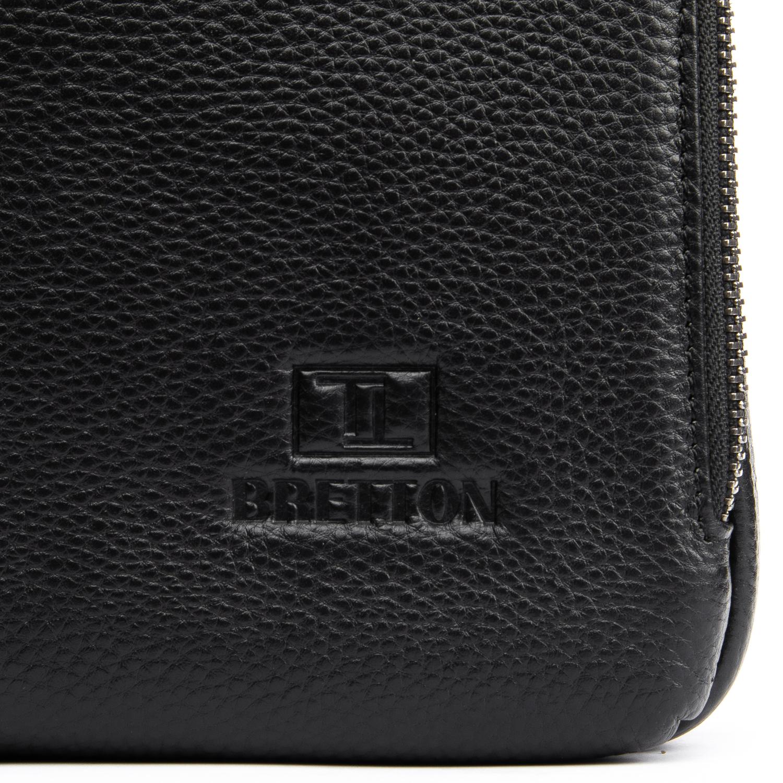Сумка Мужская Планшет кожаный BRETTON BP 5496-4 black - фото 3