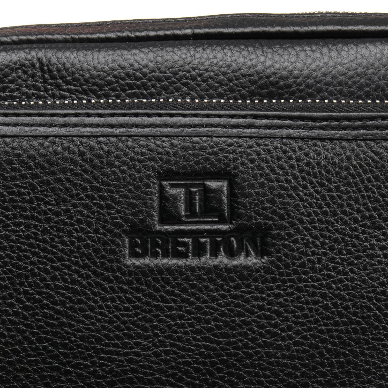 Сумка Мужская Планшет кожаный BRETTON BP 5477-4 black - фото 3