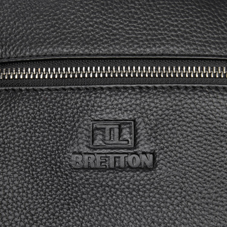Сумка Мужская Планшет кожаный BRETTON BP 72970-2 black - фото 3