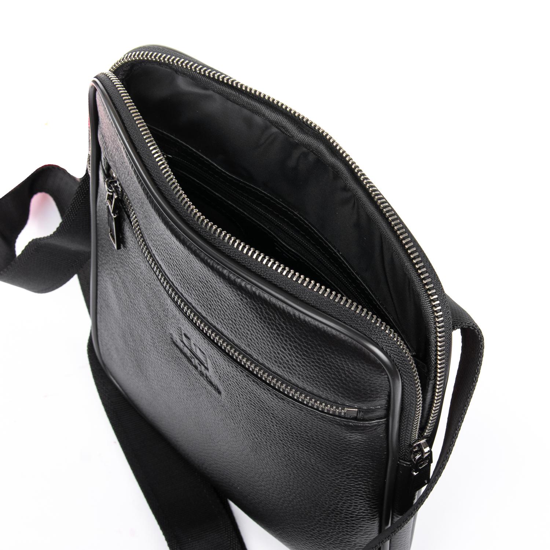 Сумка Мужская Планшет кожаный BRETTON BP 72970-2 black - фото 5