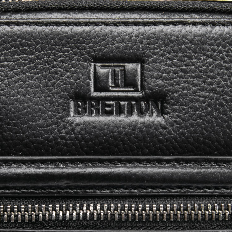 Сумка Мужская Планшет кожаный BRETTON BP 407-42 black - фото 3