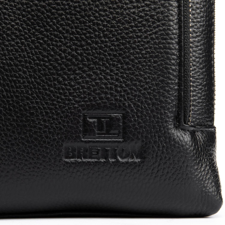 Сумка Мужская Планшет кожаный BRETTON BP 3563-3 black - фото 3