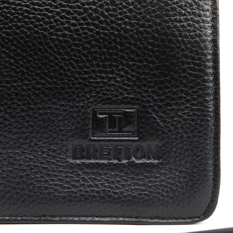 Сумка Мужская Планшет кожаный BRETTON BP 3596-3 black - фото 3