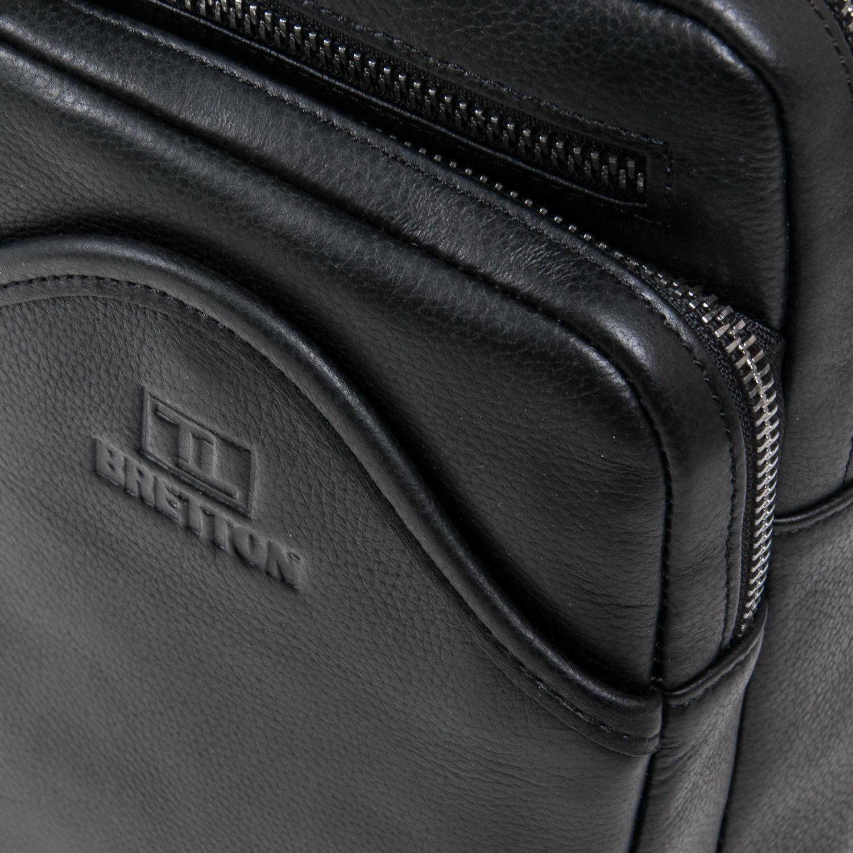 Рюкзак Городской кожаный BRETTON BE 7936-42 black - фото 3