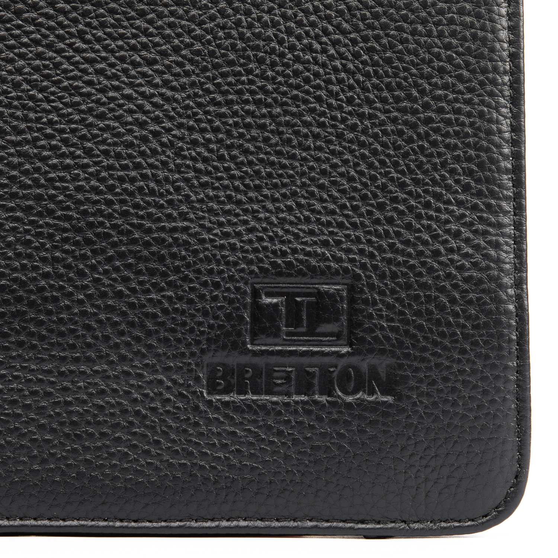 Сумка Мужская Планшет кожаный BRETTON BP 3596-4 black - фото 3