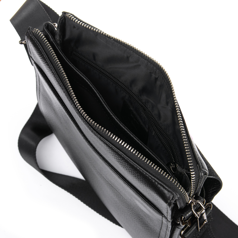Сумка Мужская Планшет кожаный BRETTON BP 1631-3 black - фото 5