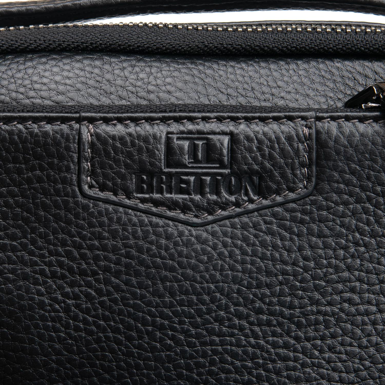 Сумка Мужская Планшет кожаный BRETTON BP 407-73 black - фото 3
