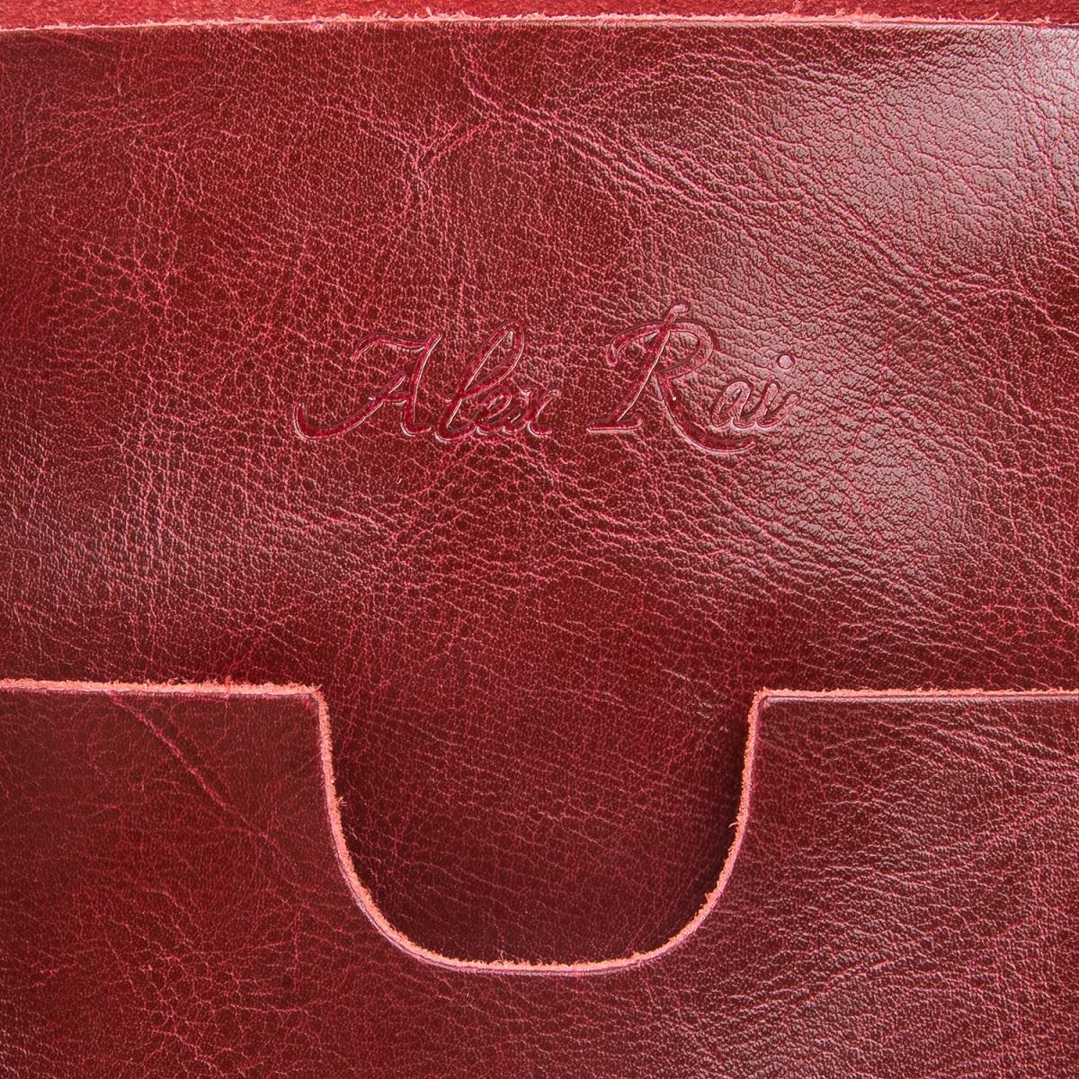 Сумка Женская Классическая кожа ALEX RAI 08-1 1535 wine-red - фото 4