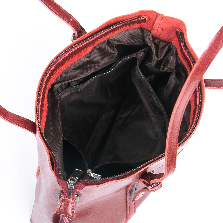 Сумка Женская Классическая кожа ALEX RAI 08-1 1535 wine-red - фото 5