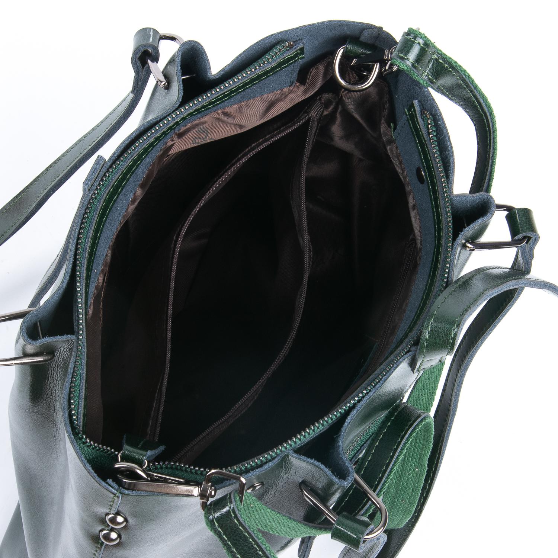 Сумка Женская Классическая кожа ALEX RAI 08-1 317-64 green - фото 4