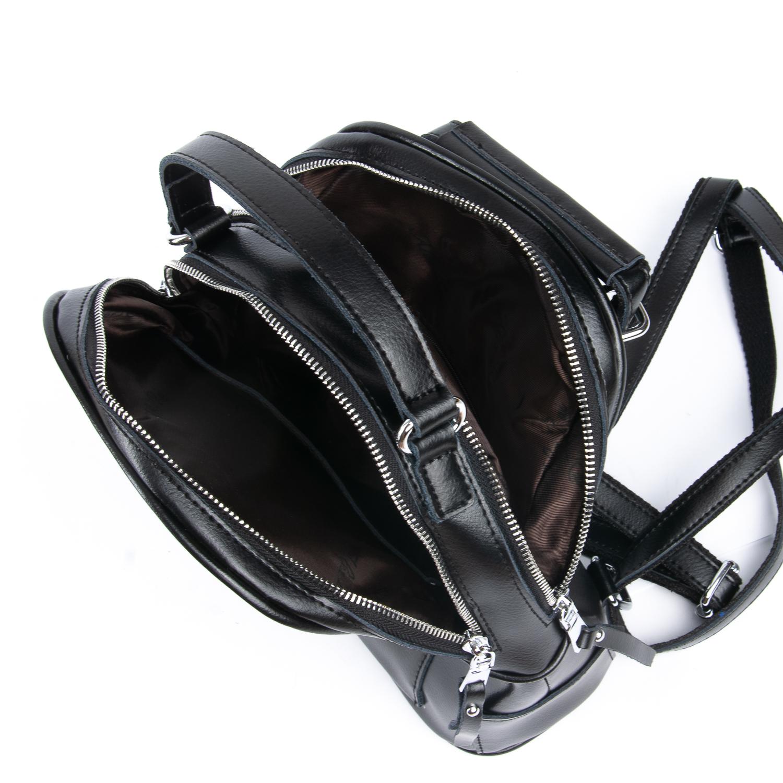 Сумка Женская Рюкзак кожа ALEX RAI 08-2 8695-2 black - фото 4