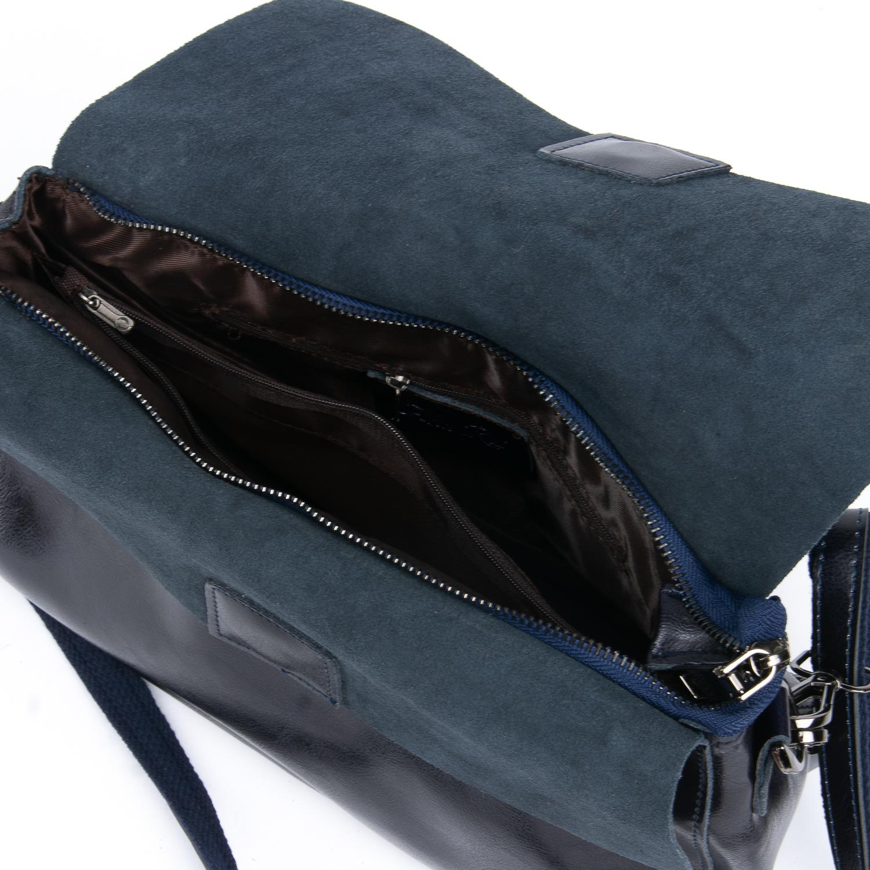 Сумка Женская Классическая кожа ALEX RAI 08-1 8605 blue - фото 5