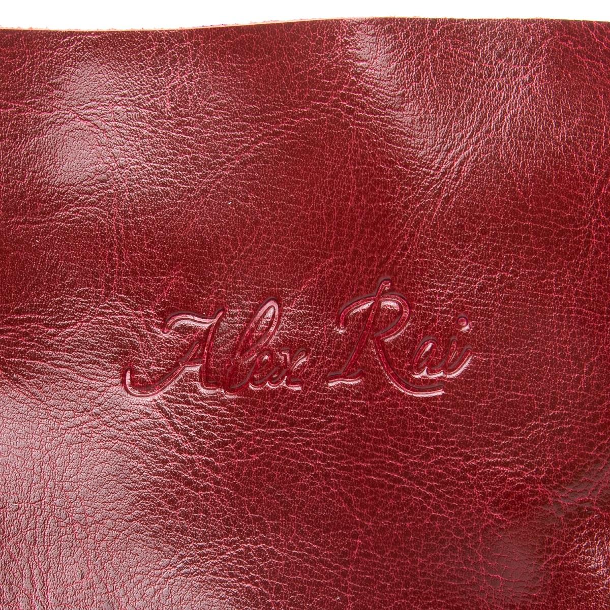 Сумка Женская Классическая кожа ALEX RAI 08-1 8603 wine-red