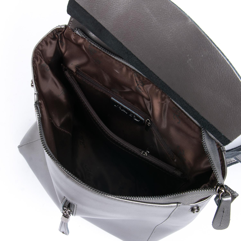 Сумка Женская Рюкзак кожа ALEX RAI 08-2 3206 grey