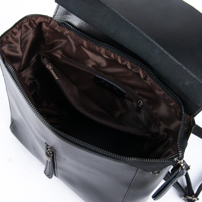 Сумка Женская Рюкзак кожа ALEX RAI 08-2 3206 black - фото 5