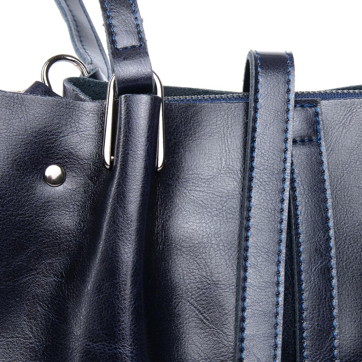Сумка Женская Классическая кожа ALEX RAI 08-1 317-64 blue - фото 5