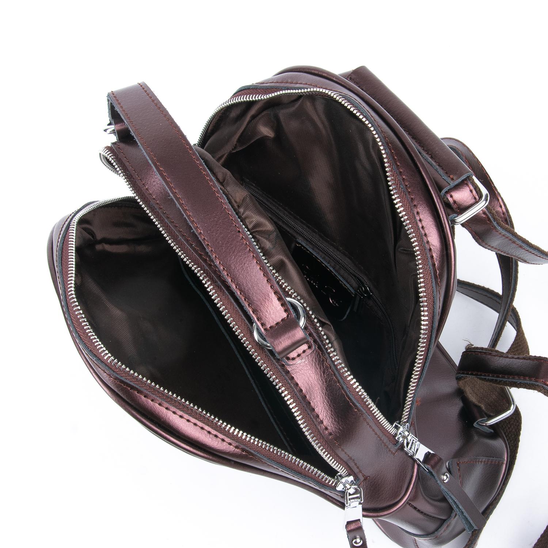Сумка Женская Рюкзак кожа ALEX RAI 08-2 8695-2 brown - фото 4