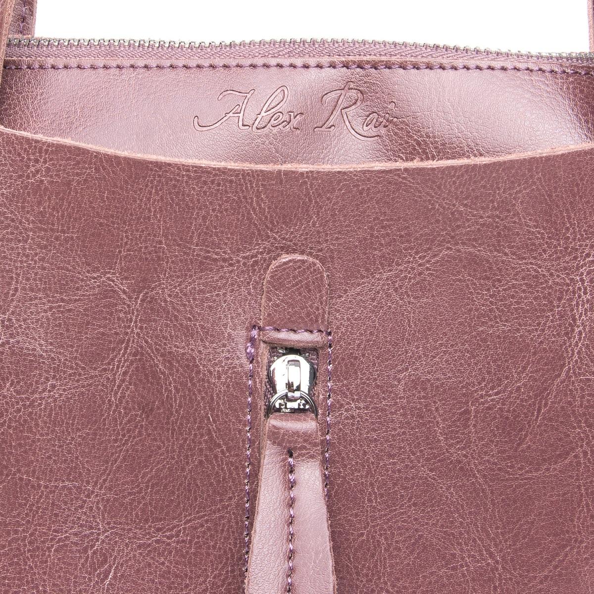 Сумка Женская Классическая кожа ALEX RAI 08-1 1542-64 violet - фото 4