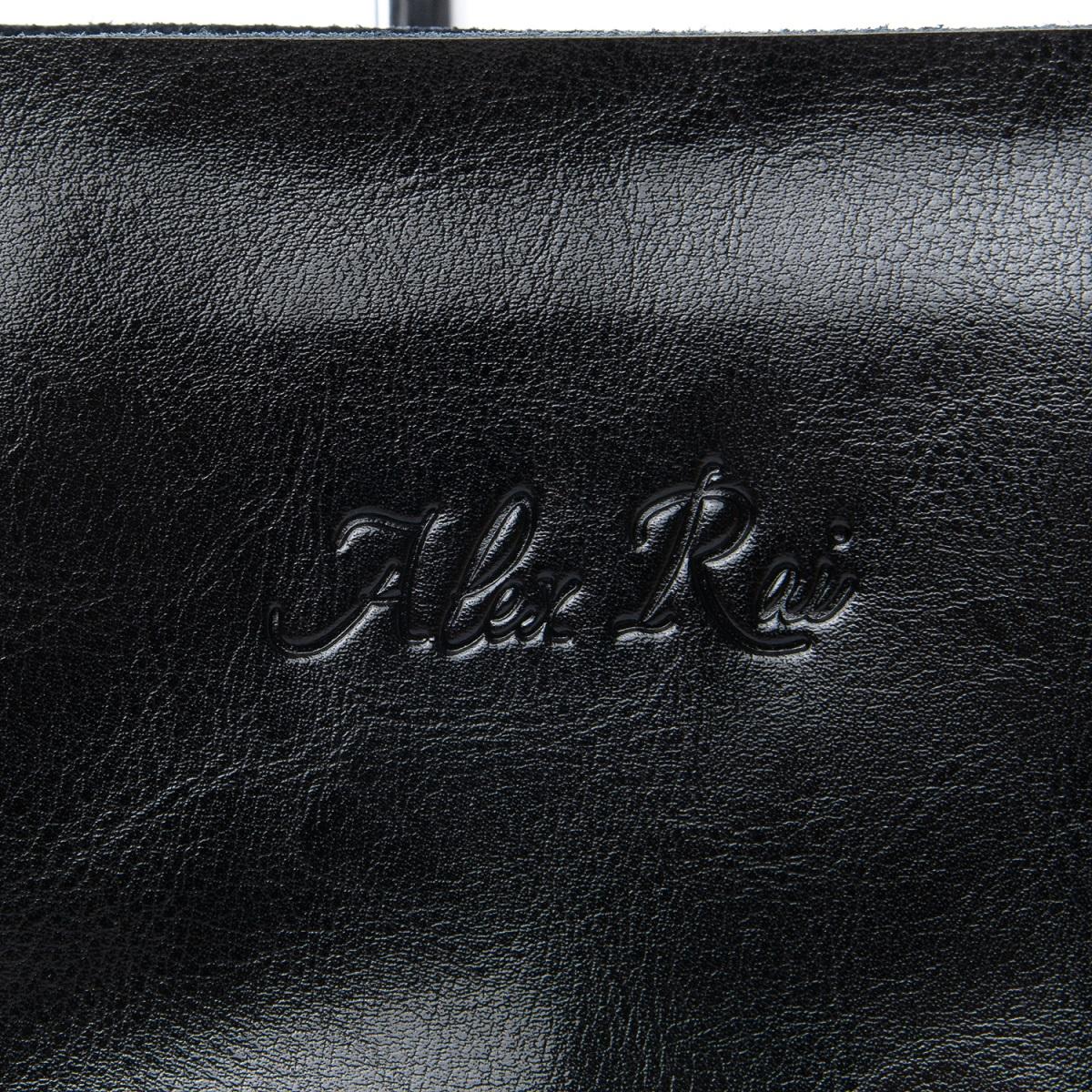 Сумка Женская Классическая кожа ALEX RAI 08-1 8603 black - фото 5